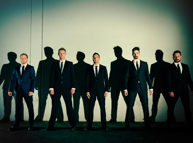 The Backstreet Boys in suits