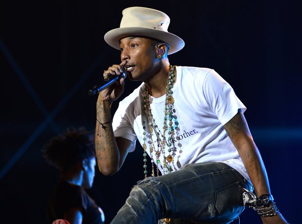 Pharrell performing on stage