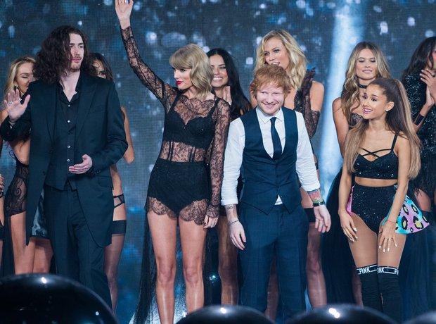 Taylor Swift, Ed Sheeran and Ariana Grande Victori