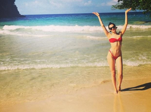 Jessie J in a bikini on holiday