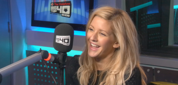 Ellie Goulding in the Big Top 40 Studio