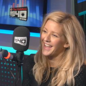 Ellie Goulding in the Big Top 40 Studio