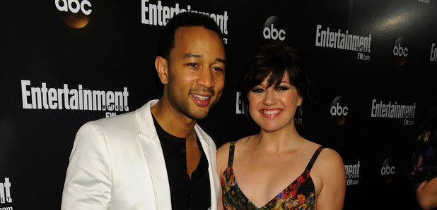 """John Legend and Kelly Clarkson attend the """"Enterta"""