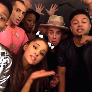 Justin Bieber and Ariana Grande lip sync video