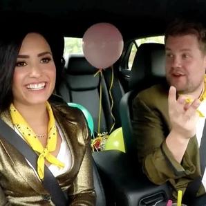 James Corden Demi Lovato Singing Telegrams