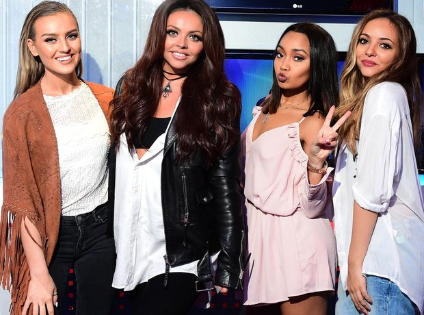 Little Mix in the studio