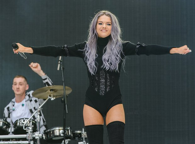 Clean Bandit and Louisa Johnson at the Summertime