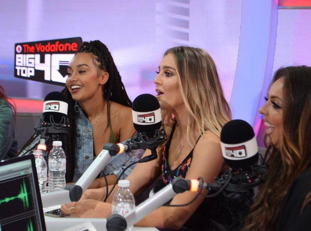 Little Mix In The Vodafone Big Top 40 Studio