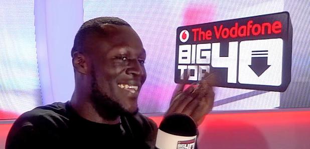 Stormzy No.1 In the Vodafone Big Top 40 studio