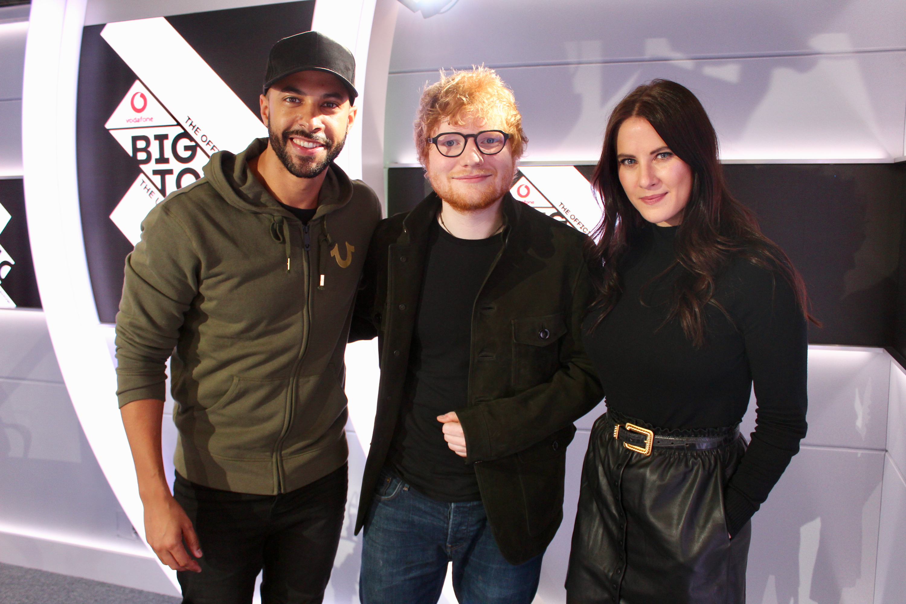 Ed Sheeran w Marvin Humes and Kat Shoob Big Top 40