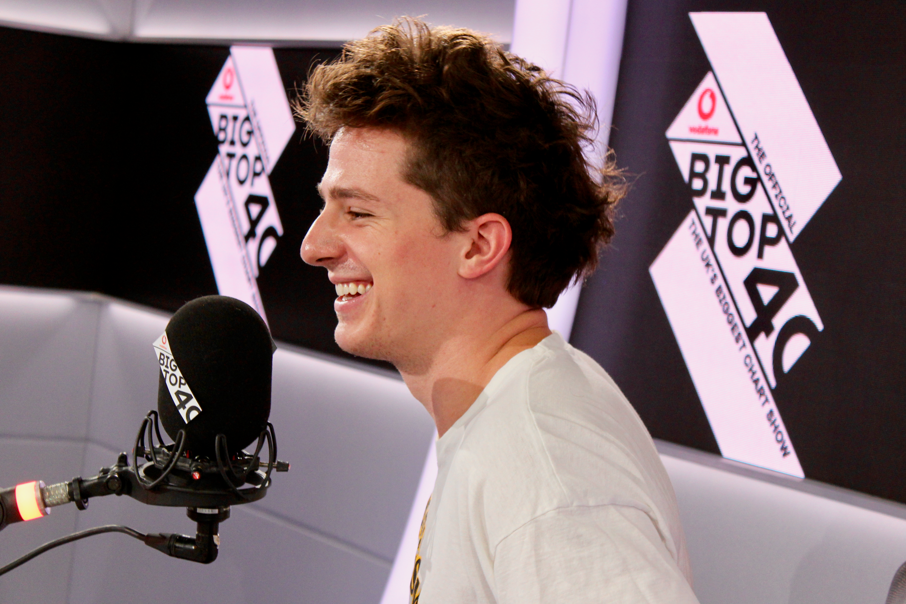 Charlie Puth on Vodafone Big Top 40