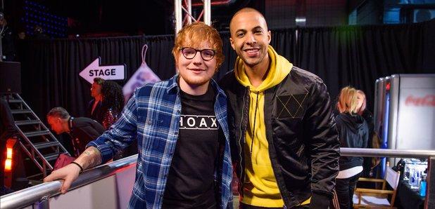 Ed Sheeran with Marvin Humes