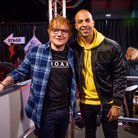 Ed Sheeran with Marvin Humes