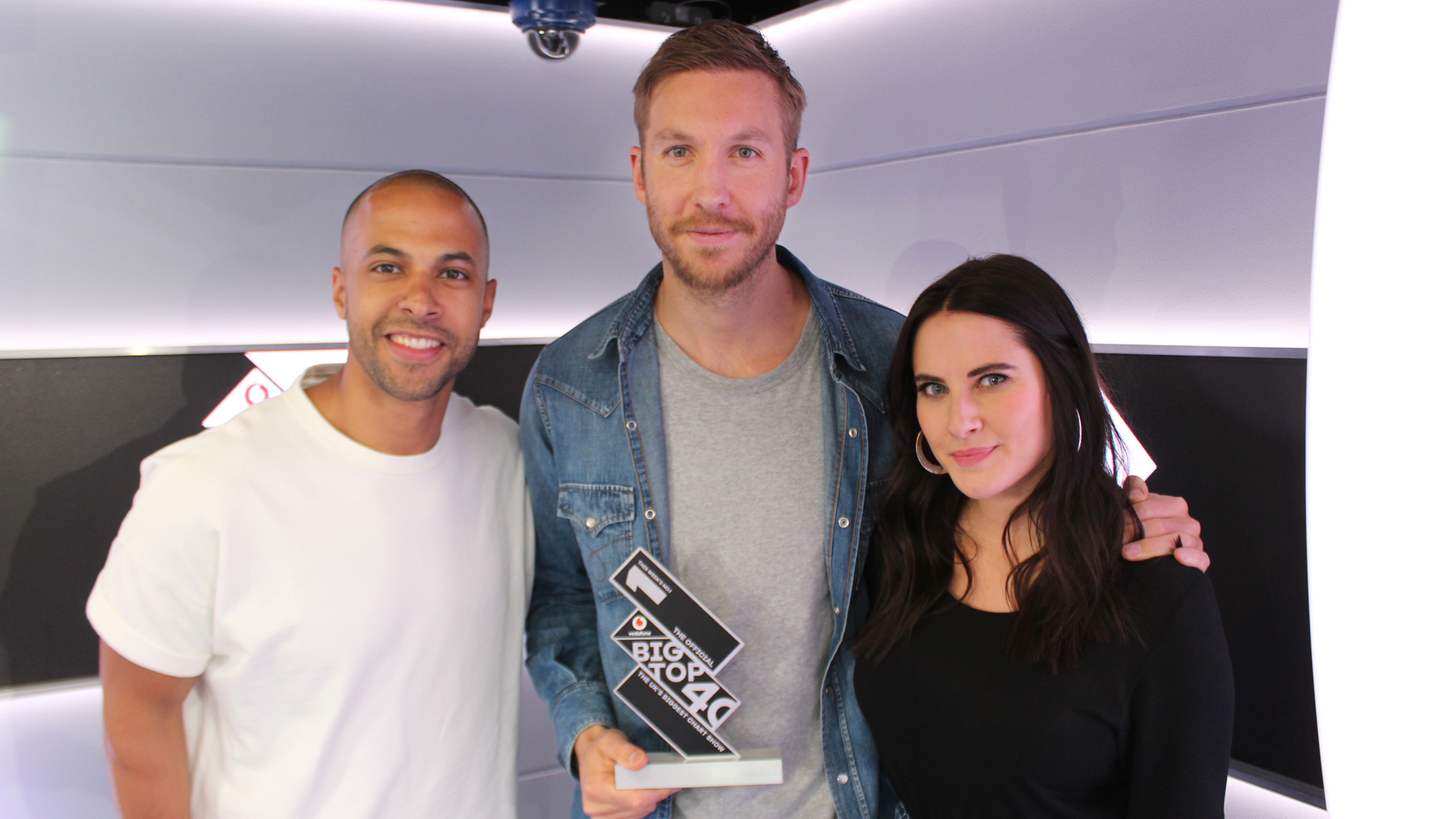 Calvin Harris receives the trophy