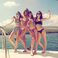 Image 6: Taylor Swift and Haim wearing Bikinis
