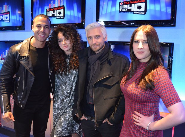 Ella Eyre DJ Fresh in the Big Top 40 Studio